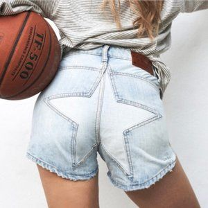One x Oneteaspoon Juliette Jean Shorts Star Bum